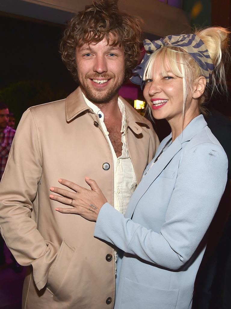 Sia and ex-husband Erik Anders Lang.