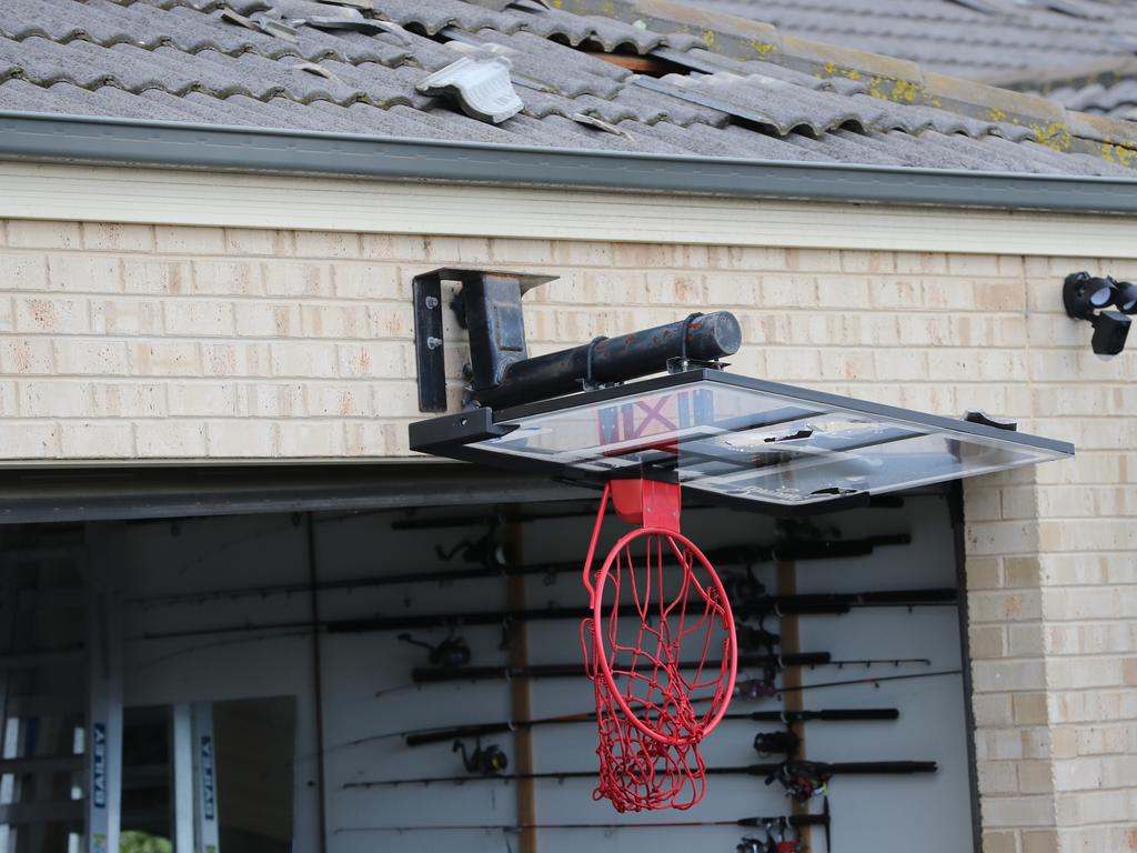 A basketball ring that has seen better days at Waurn Ponds. Picture: Peter Ristevski