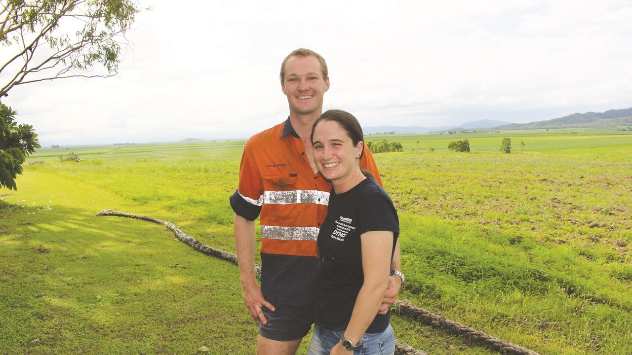 Cane farmers Dylan Wedel and Sarah Coughlan on their farm at Victoria Plains.
