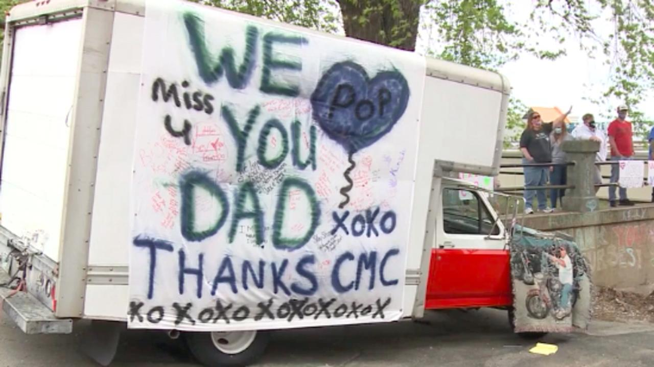 The family said they wanted to continue to boost the morale of the nurses who took care of their dying father. Picture: CNN