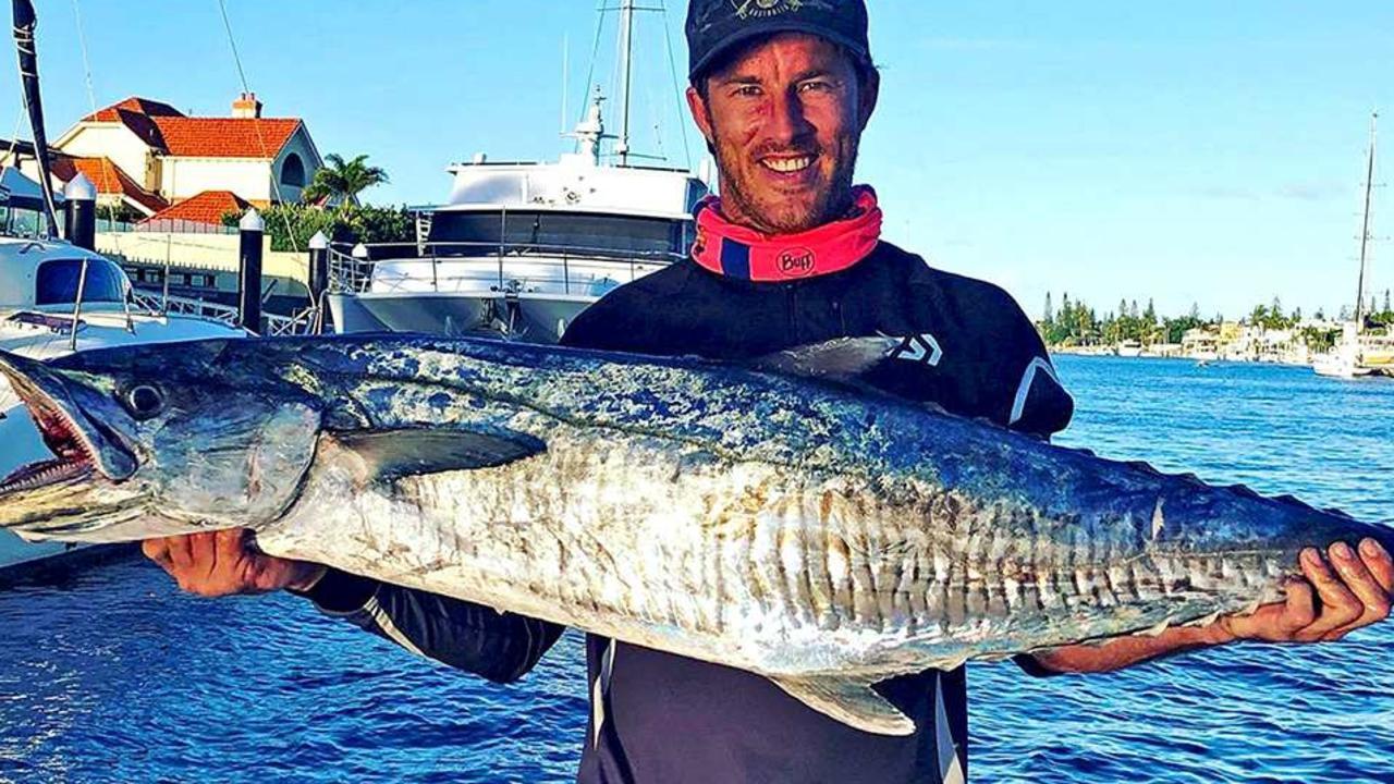GOTCHA – Brad Cooper boated this quality Spanish mackerel off Coolum using a whole yakka floater as his draw card. Photo: www.fishingnoosa.com.au