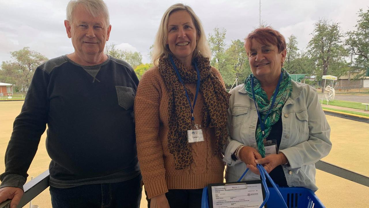 MEALS ON WHEELS CREW: President Ray Howson with Loreen Gibson and Helen Cosgrove who have been dedicating their time for 8 years.