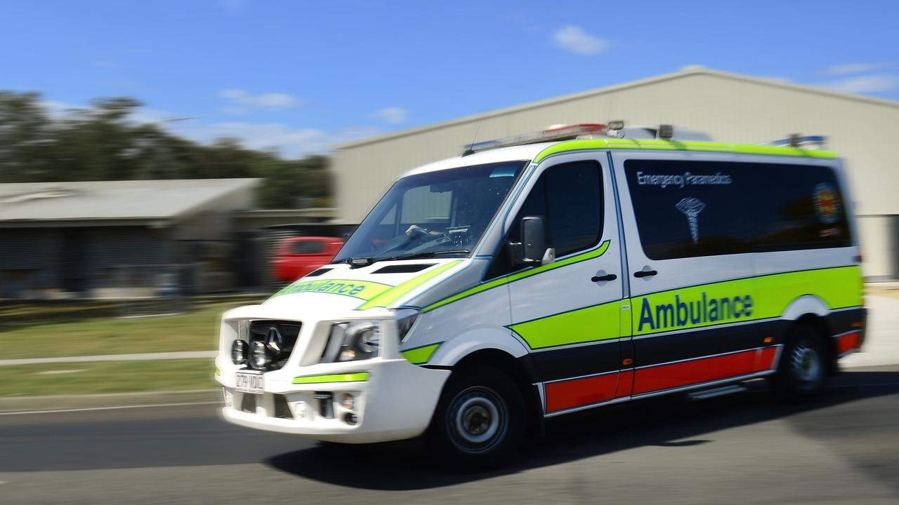 Paramedics treated a man for head and leg injuries after a fall from a roof on a Little Mountain property.