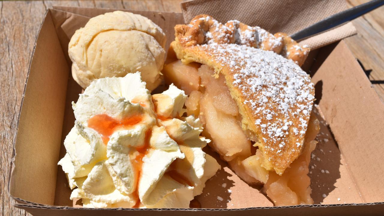 MAKE A SLICE: Sutton Farm's famous apple pie.