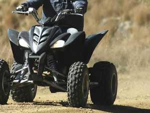 Thief rides off on stolen quad bike