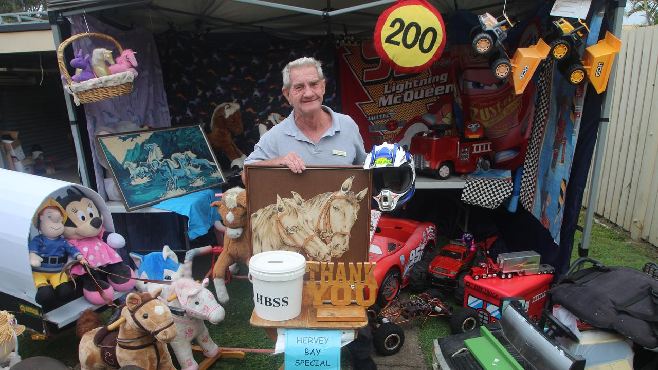 Character Man and Street Entertainer Ian Dinte was very disappointed he could not have his fundraising stall at the Fraser Coast Agricultural Show due it being cancelled because of the coronavirus health crisis. Picture: Glen Porteous