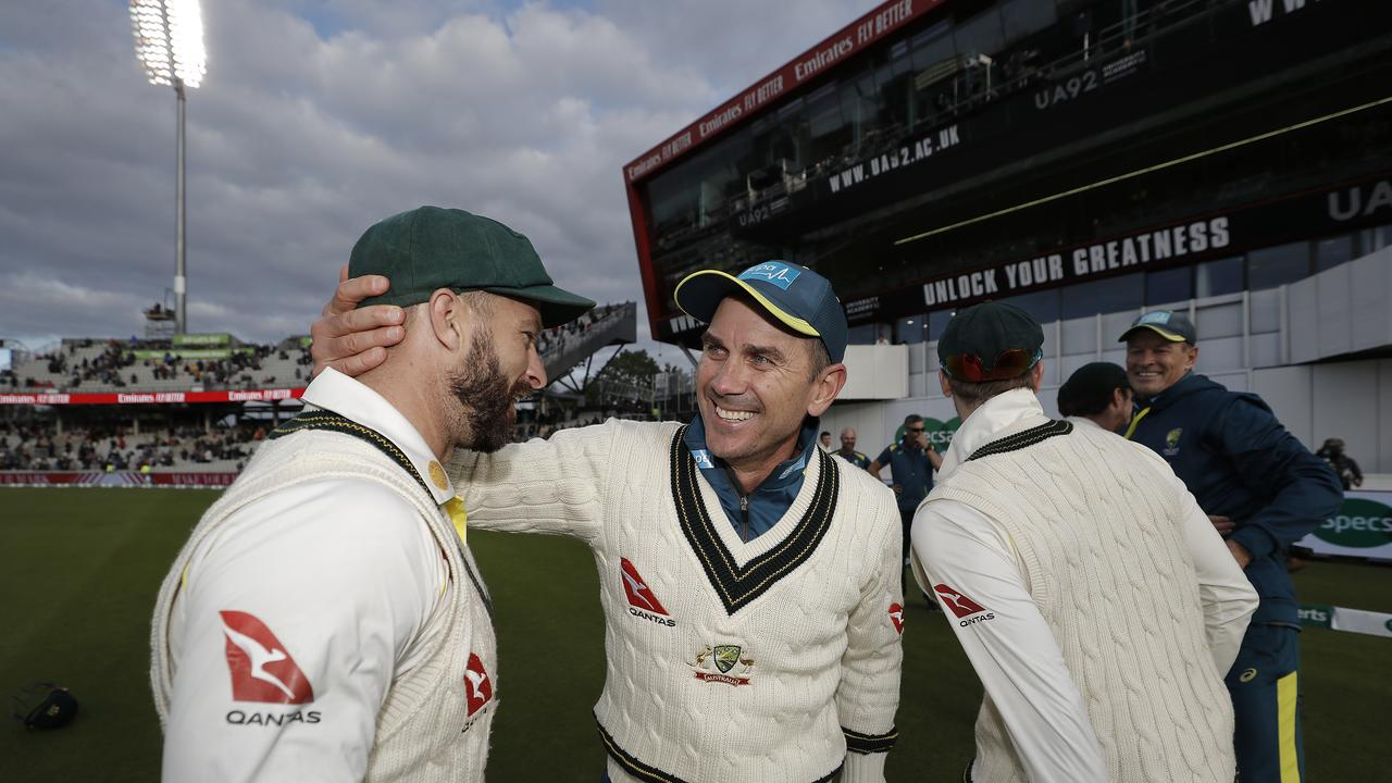 Justin Langer and his team could be back in the Old Dart. Photo: Ryan Pierse/Getty Images)