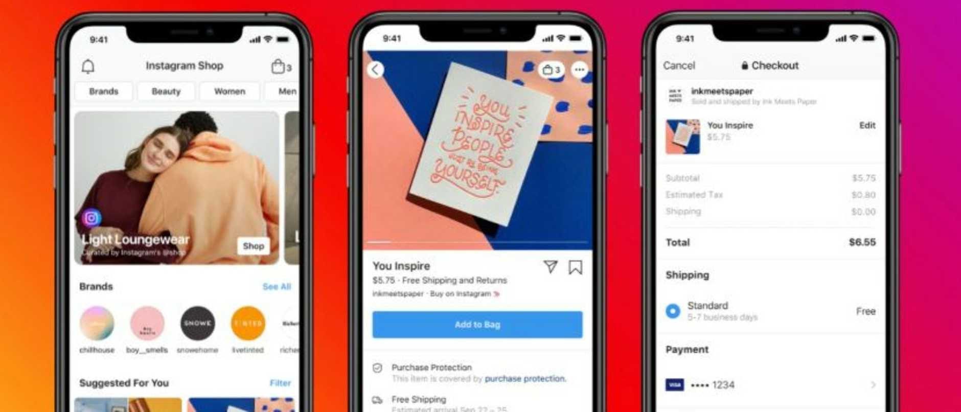 Instagram Shop will launch in the US this summer. Picture: Facebook