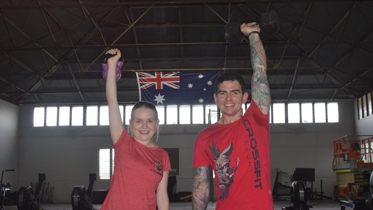 HEAVY LIFTING: Crossfit Grunt owners Shane and Roanna Beahan said members are chomping at the bit to get back.