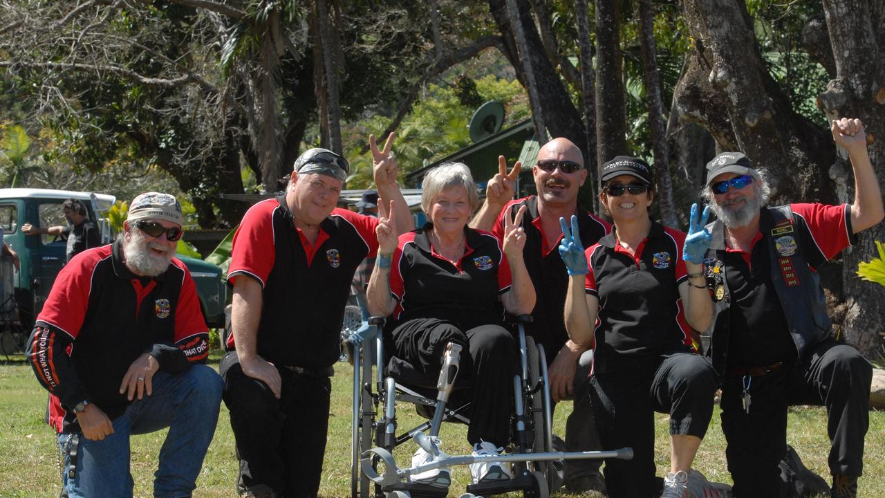Terry Pepi, Roger Martin, Chloe Callander, Warren Smith, Helen Pepi and Noel Ringuet at a fundraising event for CQRescue held at The Leap Hotel Photo Tony Martin