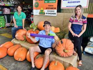 Giant pumpkin contest for Fraser Coast Show - George
