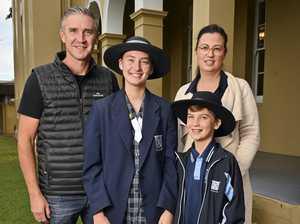 Glen and Kym Stewart with Corey, 9 and Tara, 14, at