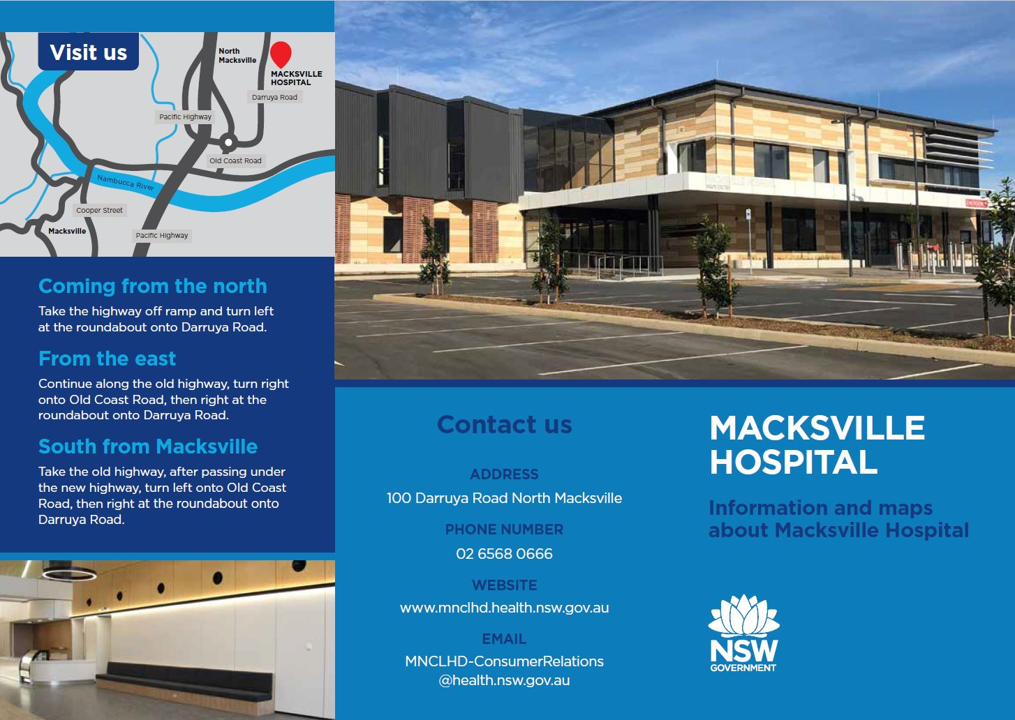 The town's new hospital will open next week.