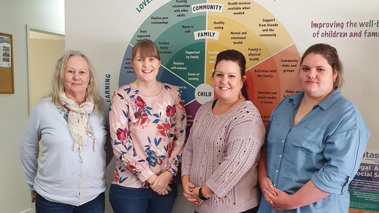 HELPING HAND: Granite Belt Neighbourhood Centre employees Desley Hedges, Rhianna Jamieson, Skye Sattler and Rachael Wood.