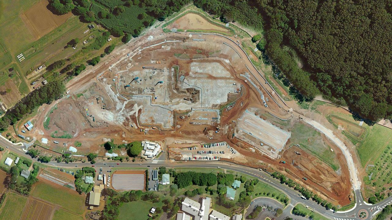 Work continues on the site of the new Tweed valley Hospital.