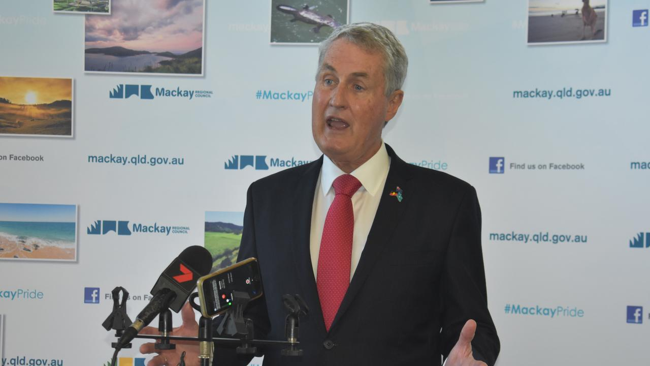 Mackay Regional Council mayor Greg Williamson said the decision over the show public holiday would be considered in the next meeting, on Wednesday. Picture: Melanie Whiting