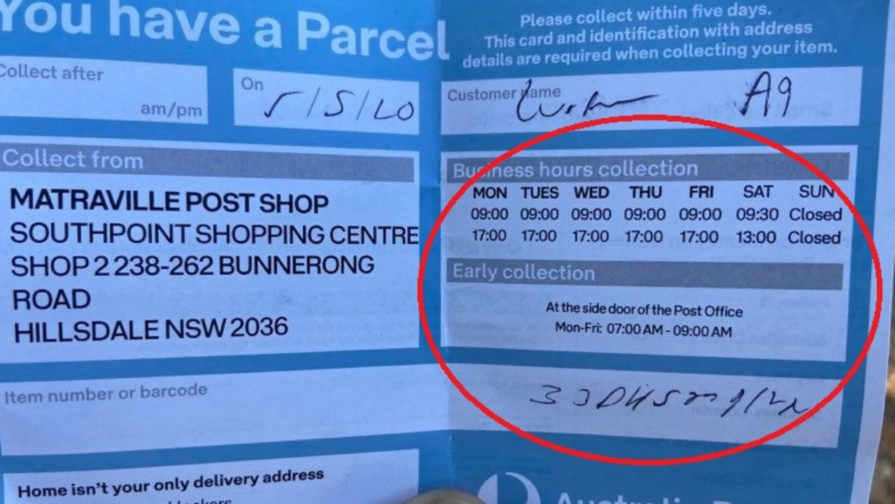 Luke says the slip was missing key information and was 'illegible'. Picture: Supplied