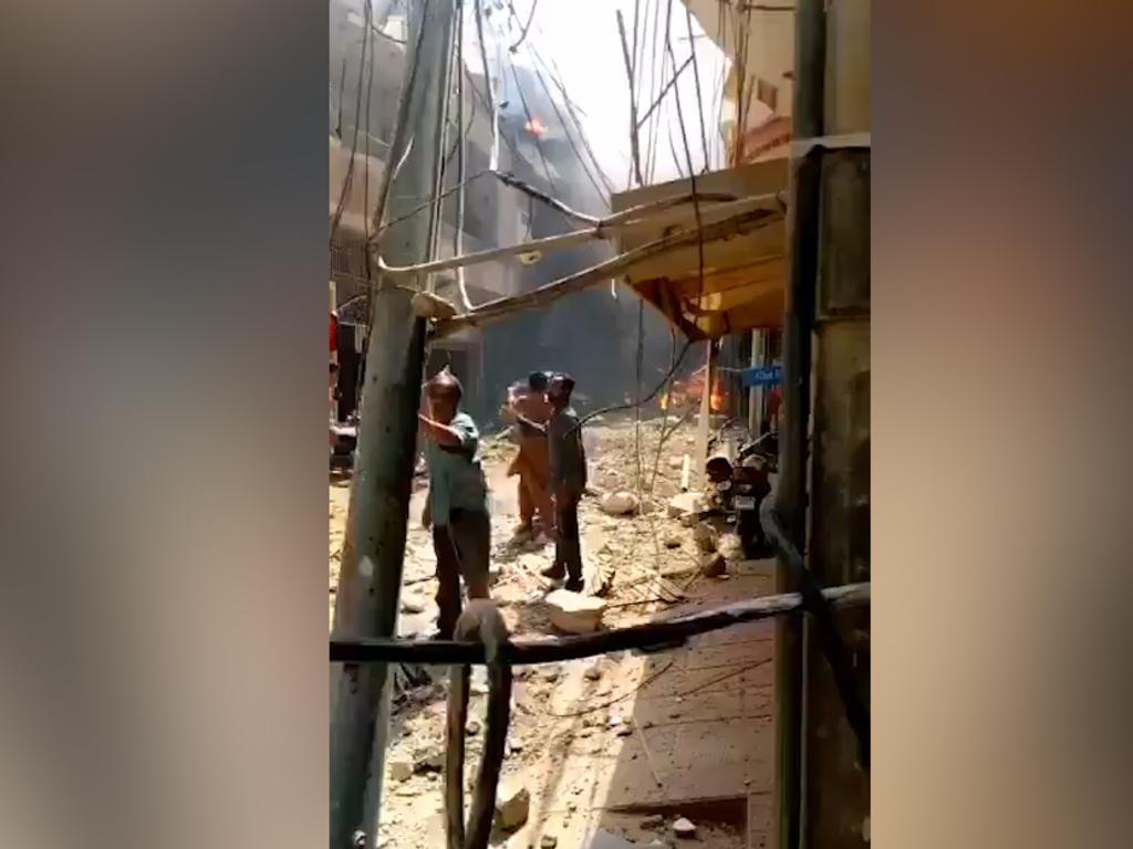 The scene of the crash in Karachi.