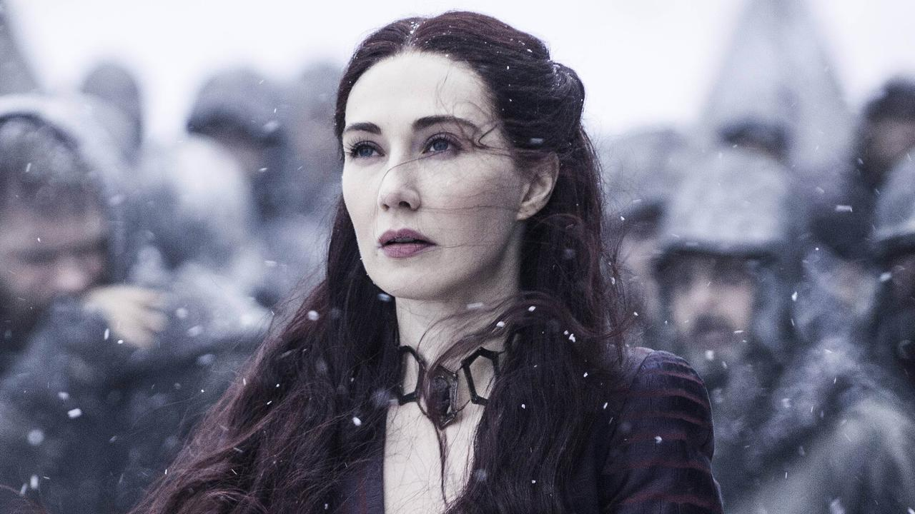 Melisandre from Game Of Thrones, played by Carice van Houten. Picture: Showcase/HBO