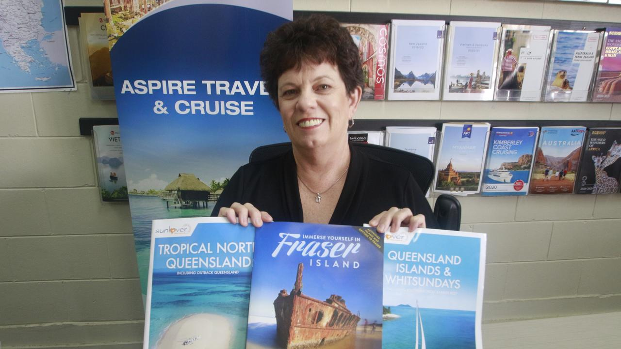 Aspire Travel and Cruise owner and manager Marita Behrendorff encouraged residents to holiday local and support their local travel agencies by booking it with them. Picture: Glen Porteous