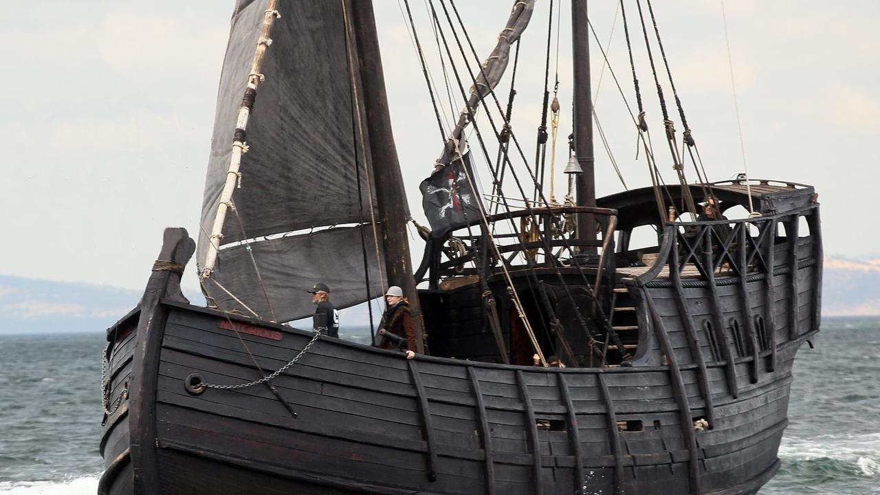 HURRY DOWN: The Notorious ship will sail out from the Mackay Marina on Saturday morning. Picture: Contributed