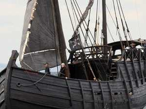 Notorious 15th century replica ship docks in Mackay