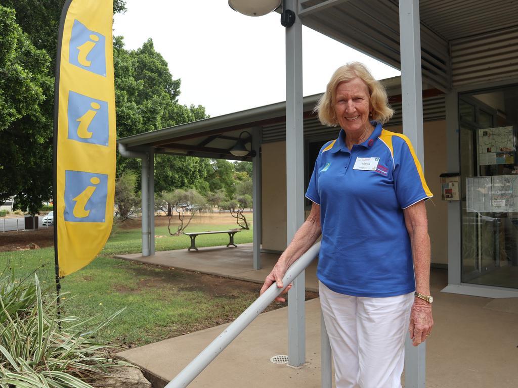Marcia Crosse enjoys volunteering at Emerald's Visitor Information Centre.