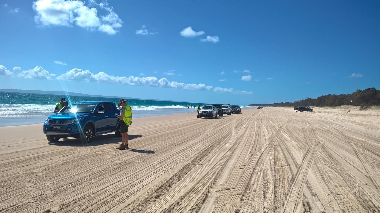 Bribie Island's Ocean Beach is still closed due to coronavirus restrictions.