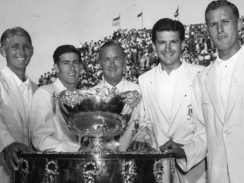 Australia's 1956 Davis Cup tennis team.
