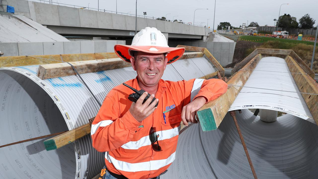 Sumners Road Interchange upgrade foreman Greg Farrer on site. Photographer: Liam Kidston.