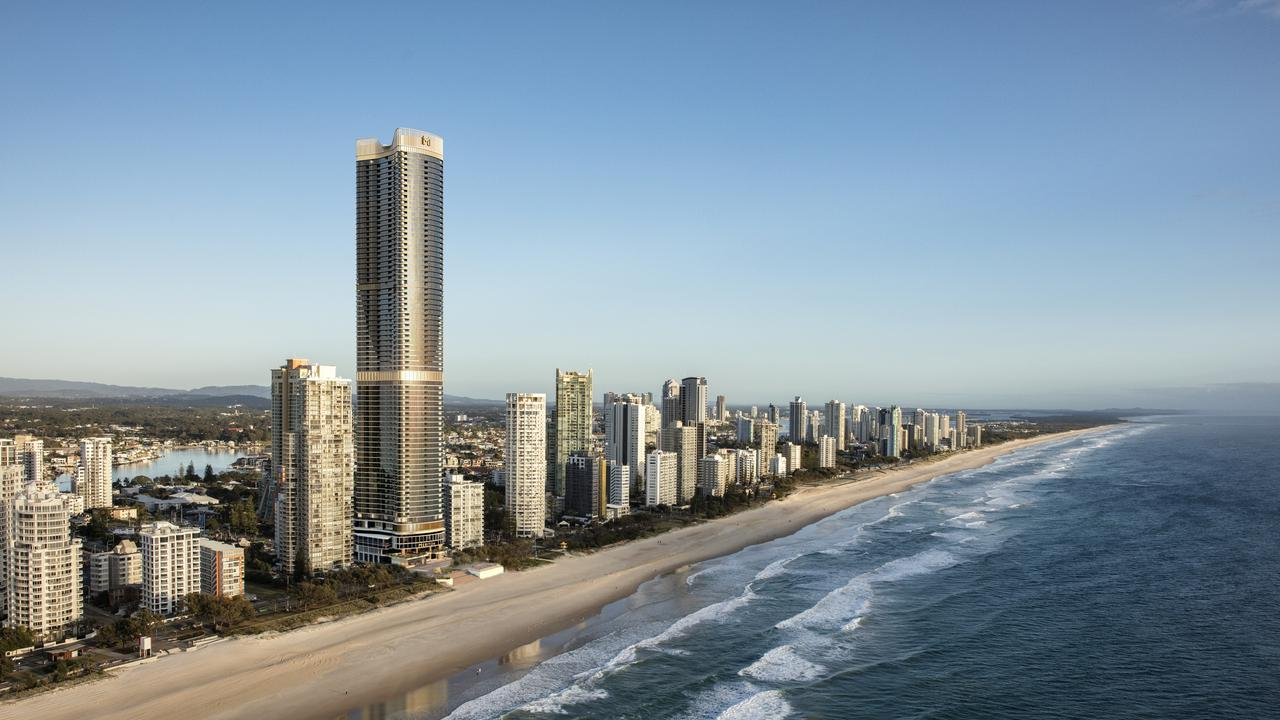Artist impressions of Meriton's Ocean Supertower in Surfers Paradise.