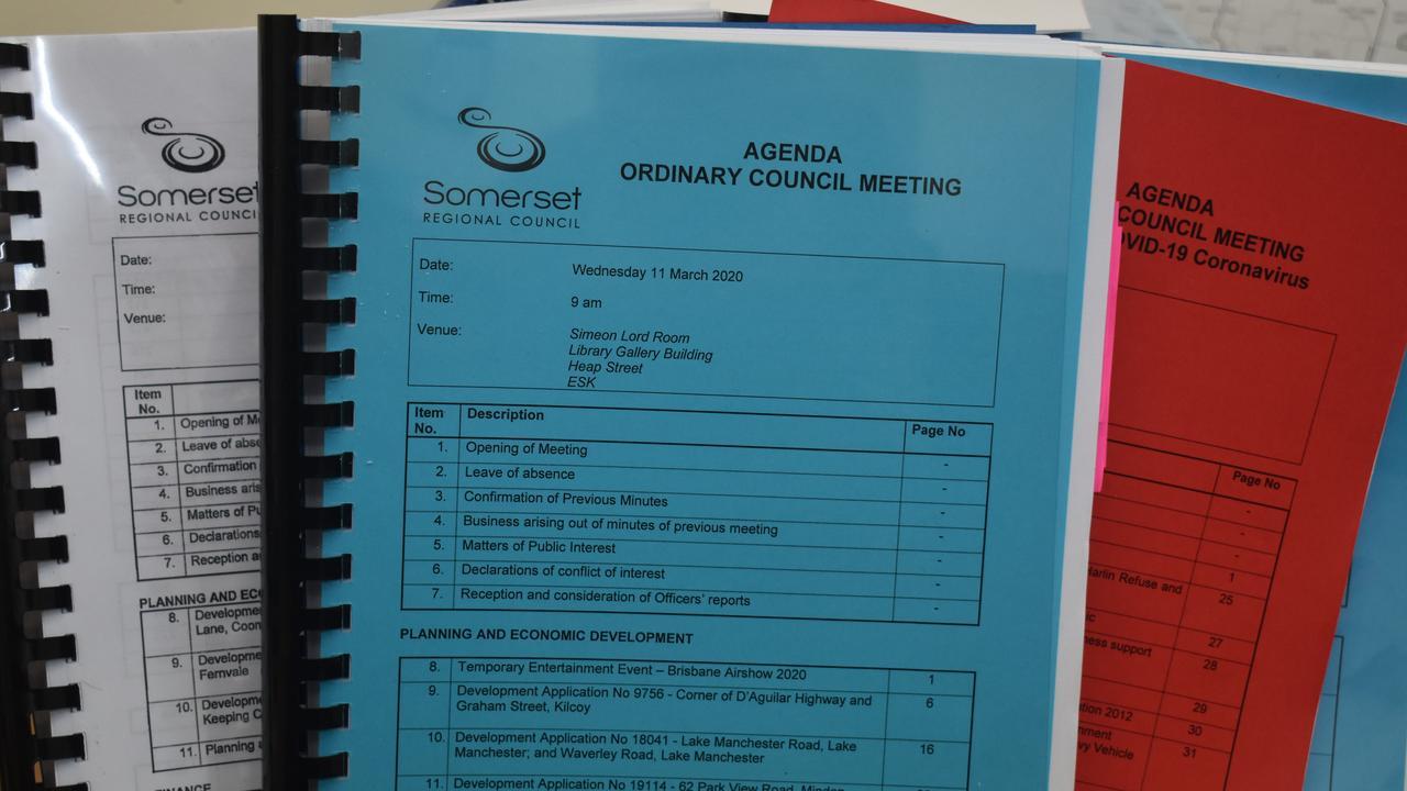 Somerset Regional Council meets again next week.