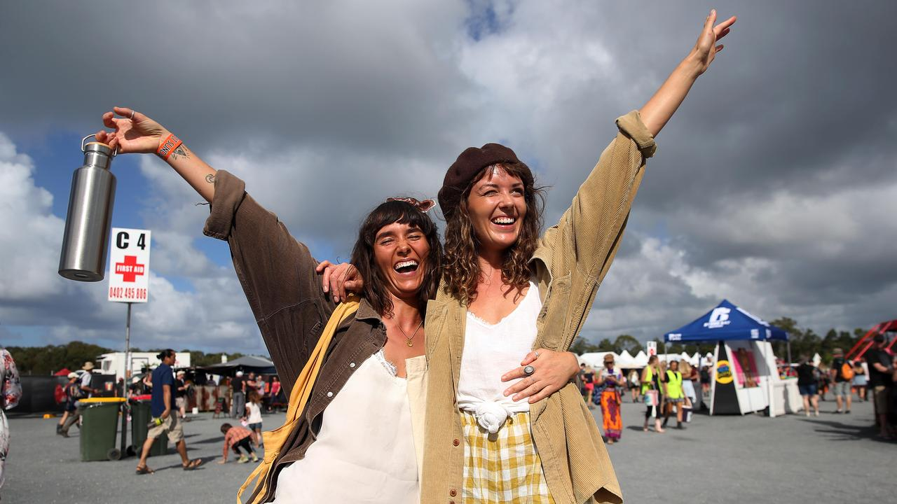 BLUESFEST ANNOUNCEMENTS. Ticket holder to the cancelled 2020 event have to wait until June to find out their options for refunds. Pictured are first-time revellers to Bluesfest in 2019, Lucy Varga and Emily Weaver.