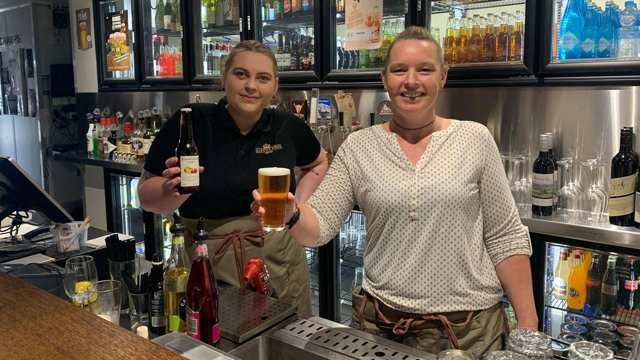 READY TO GO: Queens Arms worker Bree Gibson and manager Tracy Campbell.