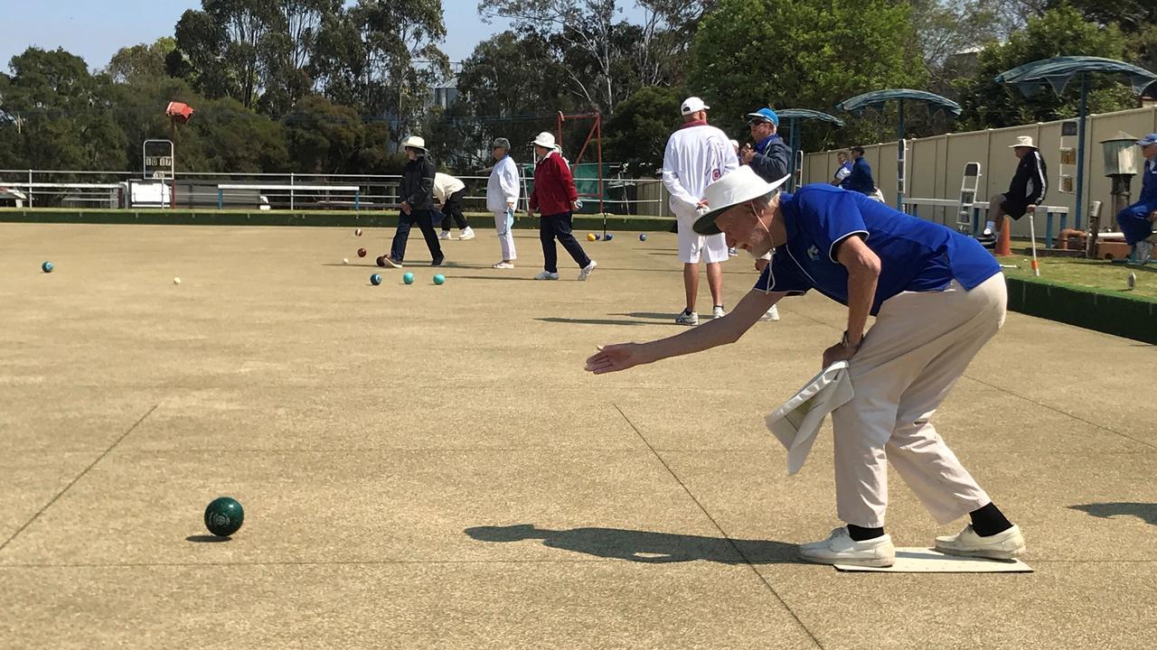 BOWLS: Tony Marshall playing lawn bowls in Kingaroy. Photo: Jessica McGrath