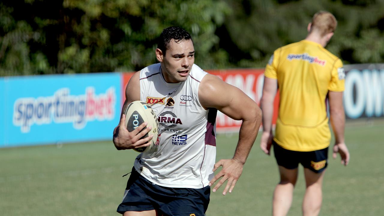 Te'o has a great love for rugby league. Pic Mark Cranitch.