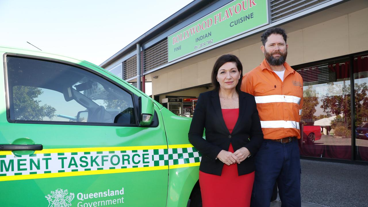 Environment Minister Leeanne Enoch launches the new taskforce, based in Redbank Plains, to crackdown on unpleasant odours.