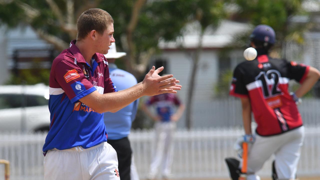 Under 16 Mackay Whitsunday bowler Jack Dwyer. Picture: Tony Martin