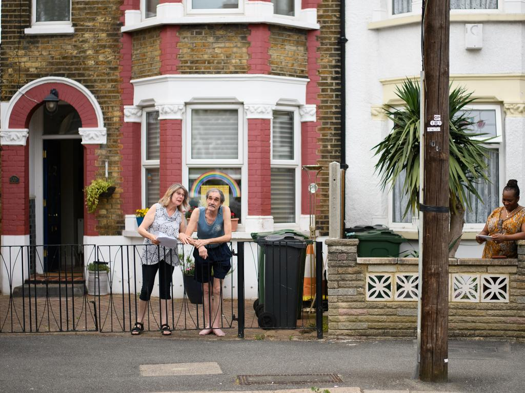 The residents of a street in Walthamstow join in on a communal concert following the