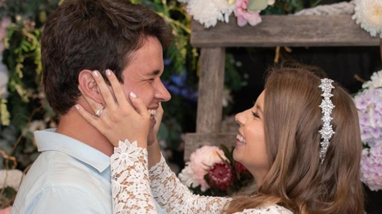 SPECIAL DAY: Bindi Irwin embraces her husband Chandler at their wedding. Picture: Instagram