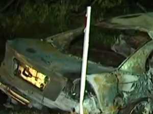 Three killed as car erupts in fireball in horrific Qld crash