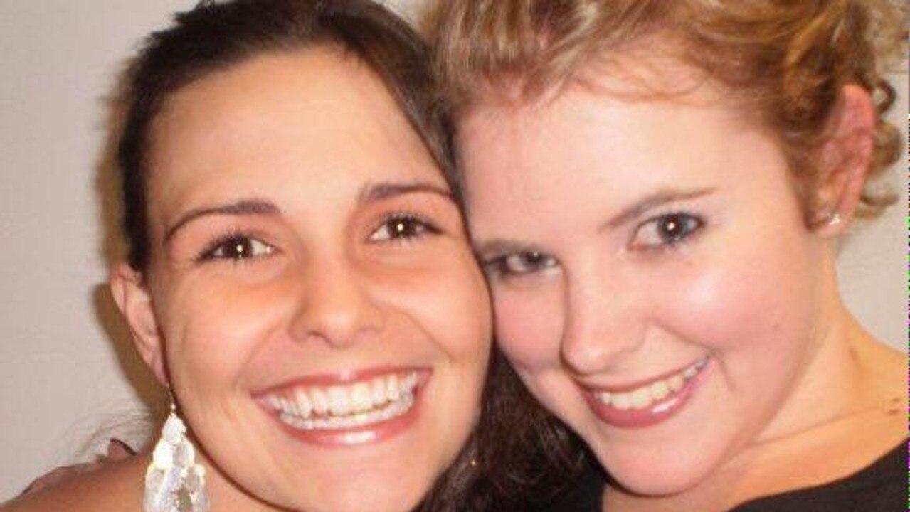 Kirra McLoughlin with her close friend Genevieve.
