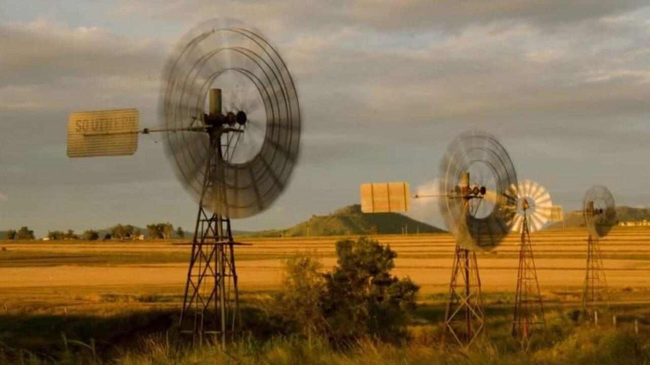 Windmills at Yangan. Picture: Glenda Riley