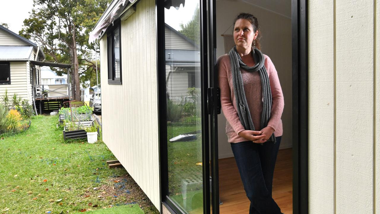 CHOICE: Lisa Wiedrich is moving her elderly mother into a granny flat after a new direction from the Queensland Government prohibited her from entering a residential aged care facility without a flu vaccination. Photo: John McCutcheon.