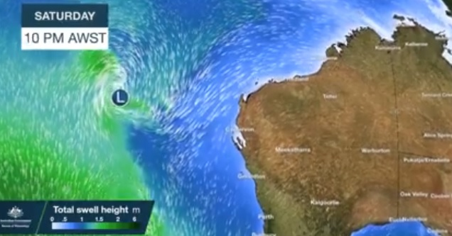 A massive storm is predicted to hit the WA coast this weekend. PHOTO: Department of Fire and Emergency Services WA ·