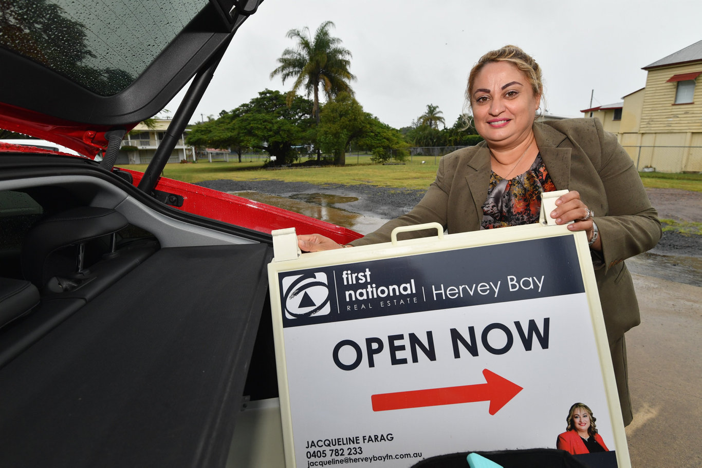 Jacqueline Farag - selling principal at First National Real Estate in Hervey Bay.Photo: Alistair Brightman