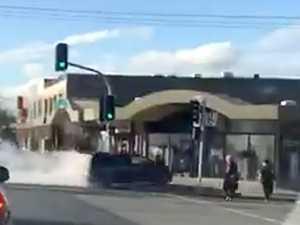 Driver 'unconscious' during horror hijab shop car crash