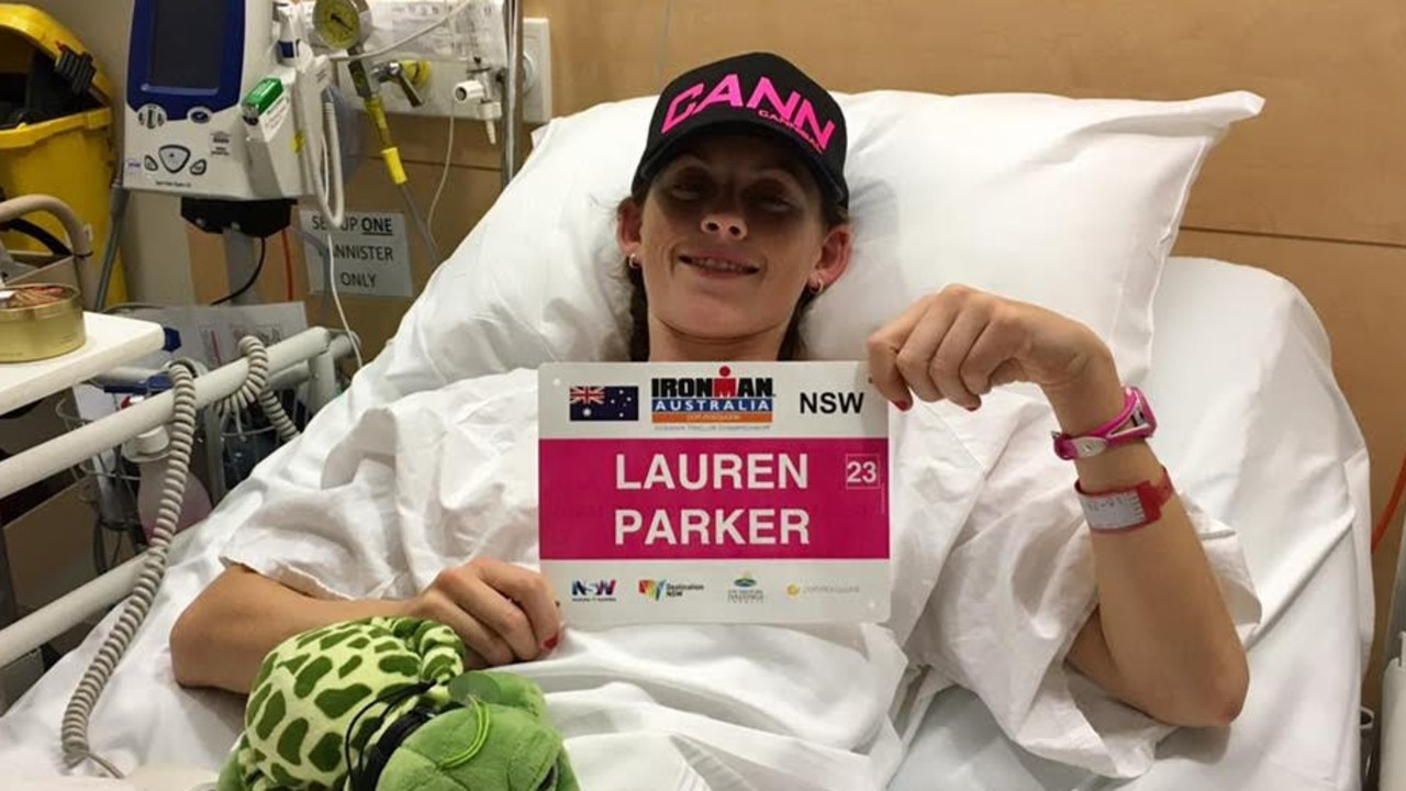 Lauren in hospital.