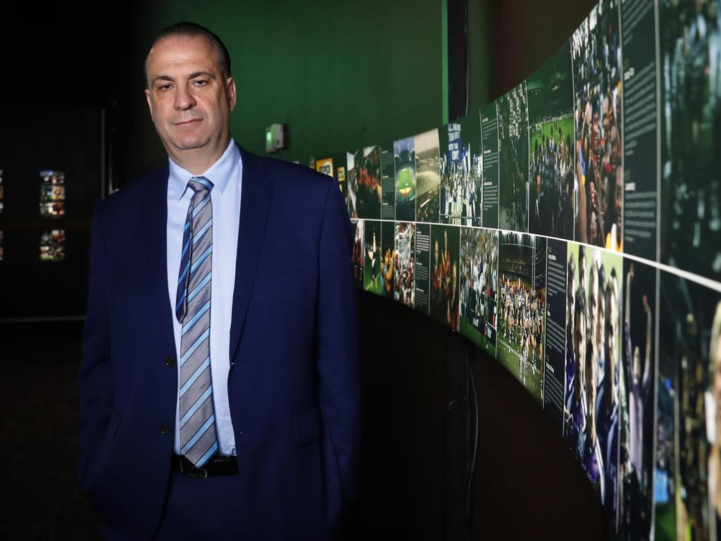 Peter Peter V'landys at Rugby League Central in Sydney on Friday.