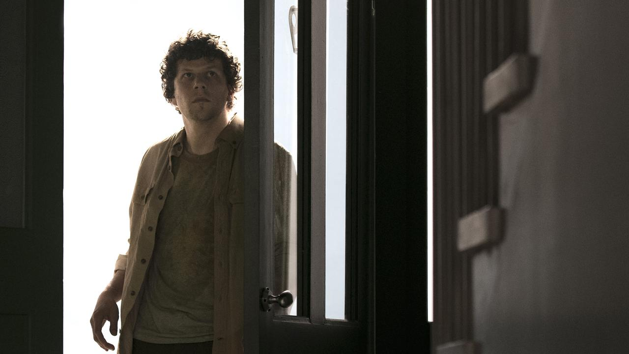 Jesse Eisenberg in a scene from the spookily prescient sci-fi chiller, Vivarium.